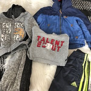 Mixed Brand Toddler Boys Clothes Lot of 5 Sz 2T